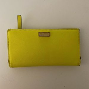 Kate Spade Cameron Street Slim wallet, Neon Yellow